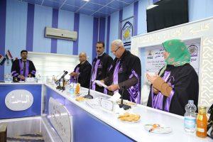 جانب من مناقشة طالب الماجستير حيدر عيدان كريم عبد الله الخفاجي