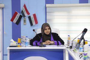 جانب من مناقشة الدكتوراة للطالبة نمارق قاسم المكيلي