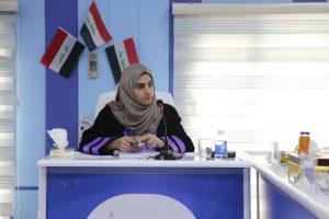جانب من مناقشة الماجستير للطالبة زهراء يوسف عباس السعدي