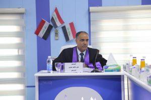 جانب من مناقشة طالب الدكتوراة علي كاظم حسين الشريفي
