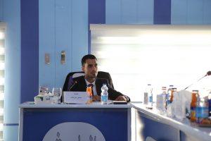 جانب من مناقشة الطالب  حسنين علي هاشم