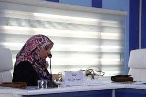 جانب من مناقشة الطالبة شيماء هادي