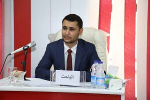 جانب من مناقشة طالب الماجستير باقر كريم فهد القيسي