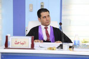 جانب من مناقشة طالب الدكتوراه امير علي خليل