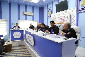 جانب من مناقشة الطالب علي عبد الحسين حميدي