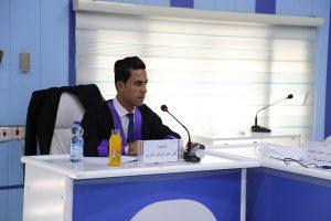 جانب من مناقشة الطالب اثير عبد الزهرة كريم