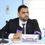 جانب من المناقشة العلنية لطالب حسنين حامد شاكر